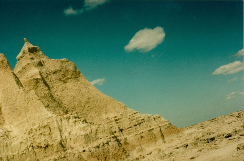 Badlands on blue