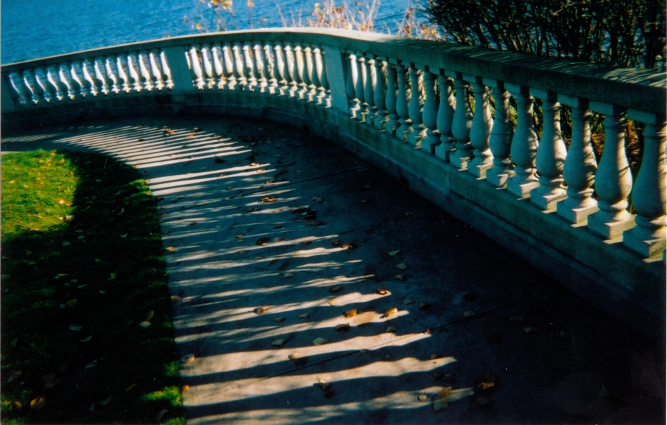 balustrade by the sea