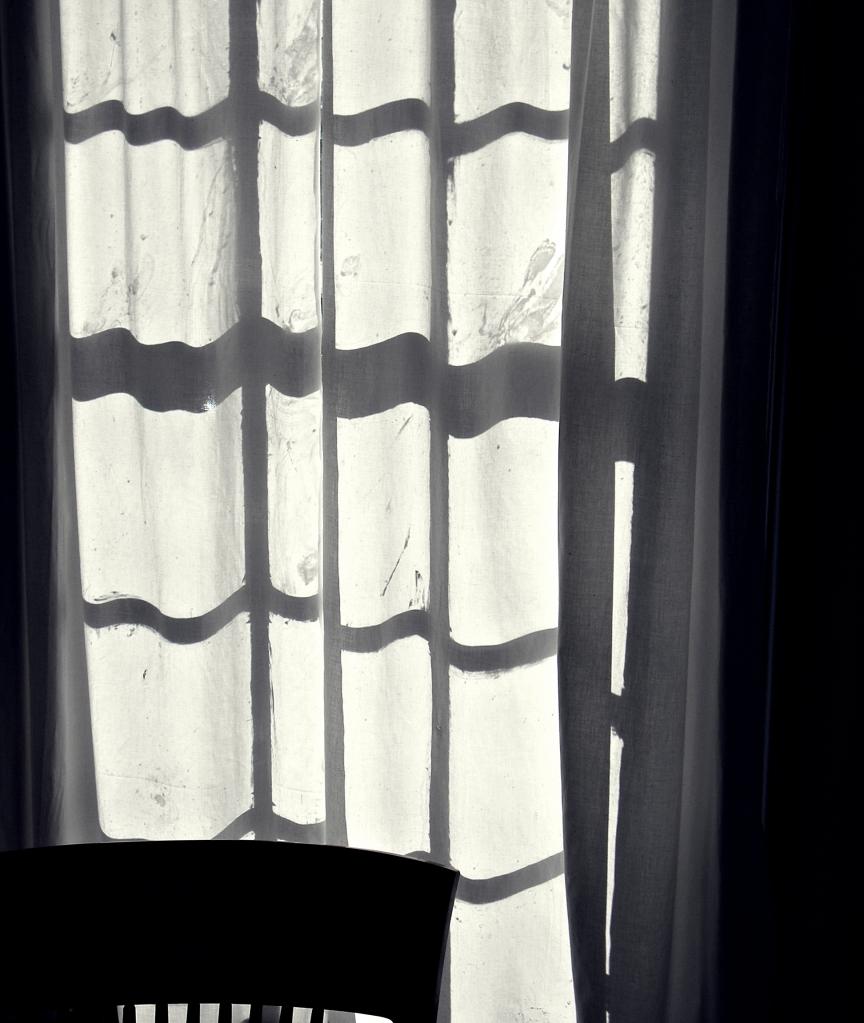 sunlit curtain